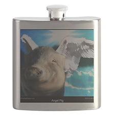 Angel-Pig-Large-Framed-Print Flask