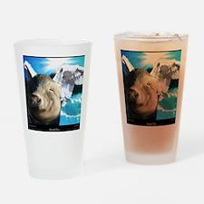 Angel-Pig-Large-Framed-Print Drinking Glass