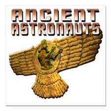 "Ancient Astros Wings Square Car Magnet 3"" x 3"""