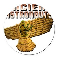 Ancient Astros Wings Round Car Magnet