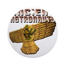 Ancient Astros Wings Round Ornament