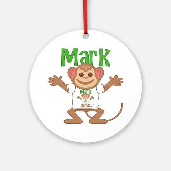 mark-b-monkey Round Ornament