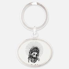 Jesus1 Oval Keychain