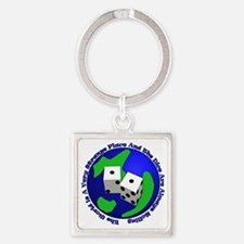 WhtT-The world is a very strange p Square Keychain