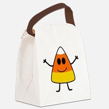 Cute Candy Corn Halloween Canvas Lunch Bag