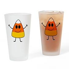 Cute Candy Corn Halloween Drinking Glass