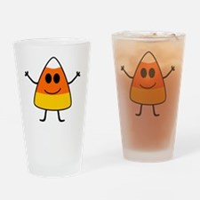 Cute Candy Corn Halloween Drinking Glass