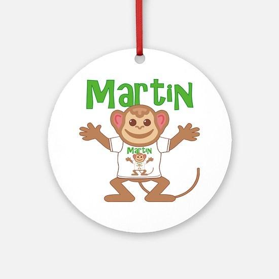 martin-b-monkey Round Ornament