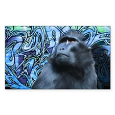 Black-Macaque-Large-Framed-Pri Decal