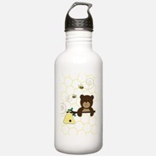Brown Bear and Bee Water Bottle