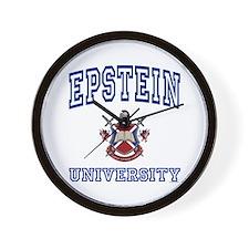 EPSTEIN University Wall Clock