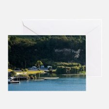 Power Boat Towing Hydrofoil, Lake Oh Greeting Card