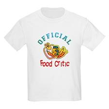 Official Food Critic Kids T-Shirt