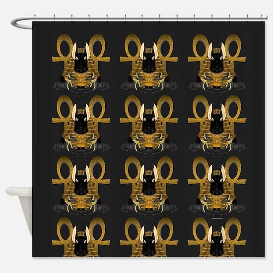 Anubis Statue Shower Curtain