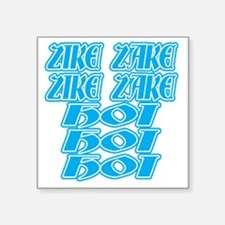 "zike-zake-bw Square Sticker 3"" x 3"""