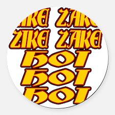 zike-zake-ryb Round Car Magnet