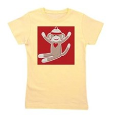 Sock Monkey Girl's Tee