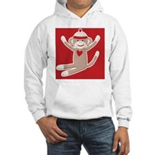 Sock Monkey Hoodie Sweatshirt