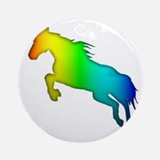 rainbow unicorn Round Ornament