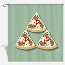 Pizza Triforce Shower Curtain