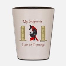 Anubis Judgment Shot Glass