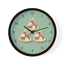 Pizza Triforce Wall Clock