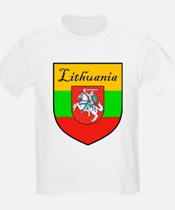 Lithuania Flag Crest Shield Kids T-Shirt