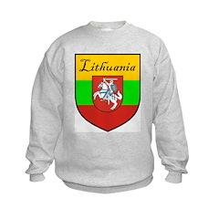 Lithuania Flag Crest Shield Sweatshirt