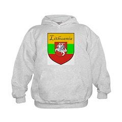 Lithuania Flag Crest Shield Hoodie