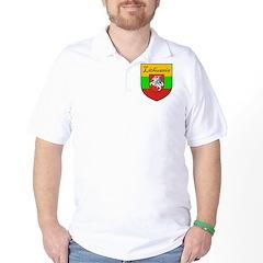 Lithuania Flag Crest Shield T-Shirt
