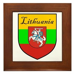 Lithuania Flag Crest Shield Framed Tile