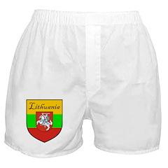 Lithuania Flag Crest Shield Boxer Shorts
