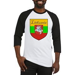 Lithuania Flag Crest Shield Baseball Jersey