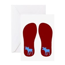 mooseBLUEFLIPS.gif Greeting Card