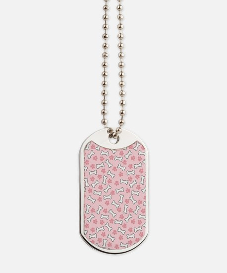 Pink Paws  Bones kindle Dog Tags