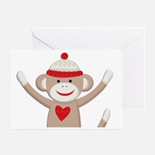 Sock Monkey Greeting Card
