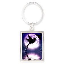 Moonlit Hummingbird Keychains