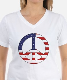 Peace Sign (American Flag) Shirt