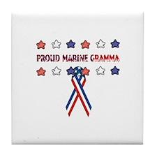 Proud Marine Gramma Tile Coaster