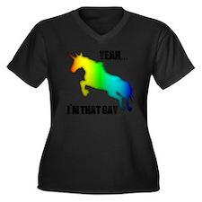 yeah im that Women's Plus Size Dark V-Neck T-Shirt