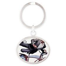 ducky_peewee_blank2 Oval Keychain