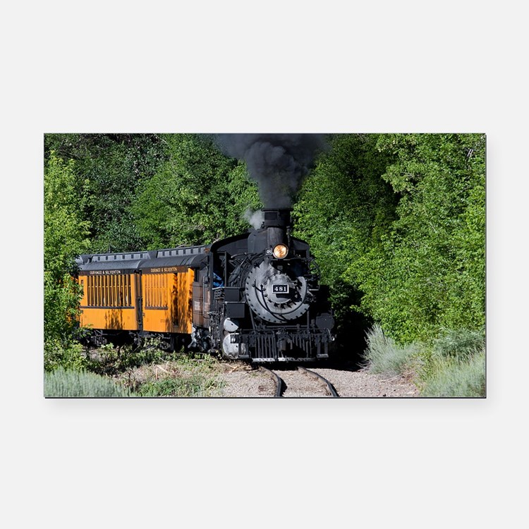 11x17 Around the Bend Rectangle Car Magnet