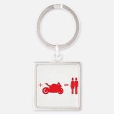 guy plus bike equals girls Keychains