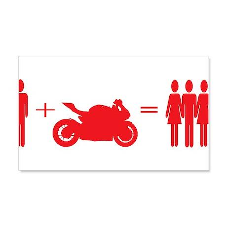 guy plus bike equals girls Wall Decal