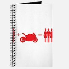 guy plus bike equals girls Journal