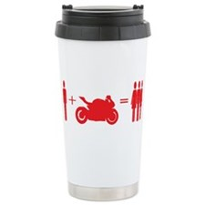 guy plus bike equals girls Travel Mug