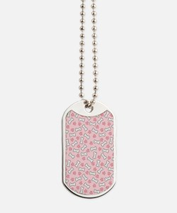 Pink Paws  Bones nook Dog Tags