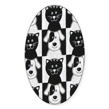 Smiley Pets Cats  Dogs nook Decal