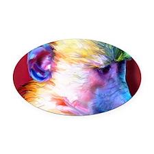 Mousepad-Corey-TriPodDogDesign Oval Car Magnet