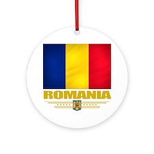Romania (Flag 10) Round Ornament